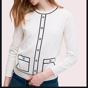 kate spade tromp L'oeil pullover sweater M nwot